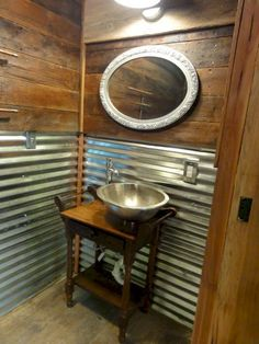 Half Bathroom Ideas - Want a half bathroom that will impress your guests when entertaining? Update your bathroom decor in no time with these affordable, cute half bathroom ideas. Outdoor Bathrooms, Beautiful Bathroom Designs, Decor, Bathrooms Remodel, Rustic Bathroom Designs, Bathroom Decor, Small Half Bathrooms, Bathroom Design, Beautiful Bathrooms