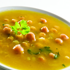 Roasted Poblano Pepper Chickpea Soup