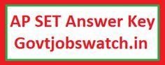 Govt Jobs Watch - One stop solution for Govt Job Notifications Ap Set, Railway Jobs, Ap Exams, Bank Jobs, Teaching Jobs, 30th, Key, Paper, Unique Key