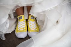 Comfy bright wedding shoes!  By Dan Childs at 222 Photographic Studios, Queenstown, New Zealand. #weddingphotography #nzwedding
