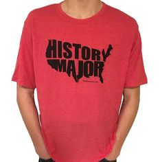 """U.S. """"History Major"""" t-shirt. Our exclusive History Major design inside a map of the US. On a super soft t-shirt. Perfect for the history major in your life."""