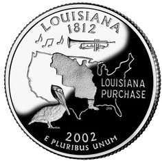 The state quarter of Louisiana.