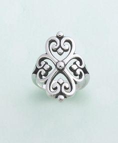 Adorned Hearts Ring #jamesavery