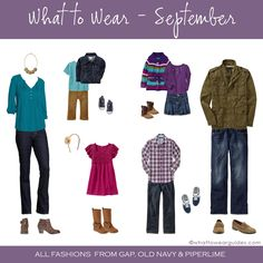 Fall mini-sessions are here - need some inspiration? This months What to Wear Guide is PERFECT for your fall and early winter family sessions. Gorgeous hues of purple,