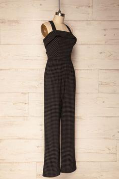 Heilly Black & White Checkered Jumpsuit | La Petite Garçonne Chpt. 2 Online Fashion Boutique, Short Prom, Jumpsuit, Prom Dresses, Black And White, Clothes, Shopping, Collection, Tops