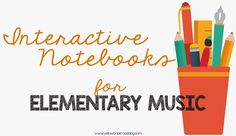 Great tips for how to get started with Interactive Notebooks in Elementary Music | The Yellow Brick Road