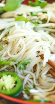 Cheater Pho (Asian Noodle Soup) ~ With this simplified version, you can have homemade pho on your table in 30 min or less... It doesn't get any easier!