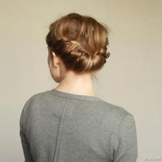 The double-braided gibson tuck isn't just for girls with long locks. Get this prom hairstyle yourself by following the simple tutorial.