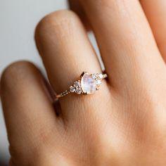Dream Engagement Rings, Engagement Ring Settings, Vintage Engagement Rings, Vintage Rings, Moonstone Engagement Rings, Vintage Jewelry, Vintage Promise Rings, Unique Promise Rings, Unusual Engagement Rings