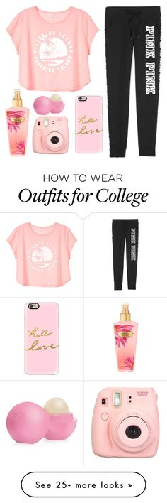 """""""VS PINK paradise"""" by allikaren on Polyvore featuring Victoria's Secret, Eos and Casetify"""
