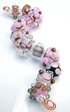 More gorgeous lampwork beads. Etsy Firebugbeads