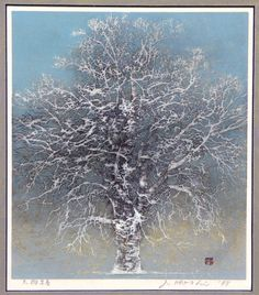 "Joichi Hoshi, Japanese woodblock print, tree  Sign In to see what this sold for Framed Japanese woodblock print by Joichi Hoshi (1913-1979), entitled ""Big Tree: Early Spring"" [in Japanese], pencil signed and dated 1978, 9 3/4 x 8 1/2"""