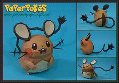 Pokemon - Dedenne Free Papercraft Download - http://www.papercraftsquare.com/pokemon-dedenne-free-papercraft-download.html