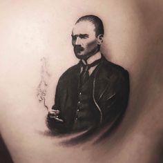 Realistic Mustafa Kemal Atatürk Tattoo - Atatürk Portre Dövmesi by Bora Mesut Palas / Istanbul, TR