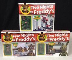 Five Nights At Freddys FNAF McFarlane Building LOT Closet Bed Security Office #McFarlane
