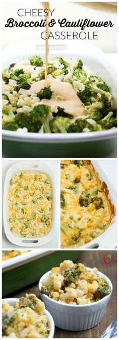 FOOD - Cheesy Broccoli and Cauliflower Casserole | Super Healthy Kids | Food and Drink http://www.superhealthykids.com/cheesy-broccoli-cauliflower-casserole-recipe/