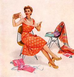 1950s stockings advertisement.