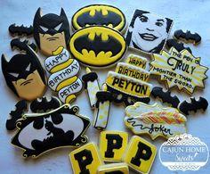 Fabulous Batman & Joker Cookies made by Cajun Home Sweets Batman Cookies, Superhero Cookies, Batman Superhero, Cute Cookies, Sugar Cookies, 19th Birthday, Happy Birthday, Cookie Designs, Cookie Ideas
