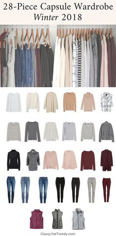 My Winter 20172018 Capsule Wardrobe see all the clothes in my closet and the shoes outerwear and scarf accessories Ill be wearing thi season I always have many outfits f. Capsule Wardrobe 2018, Capsule Outfits, Fashion Capsule, Mode Outfits, Fashion Outfits, Fashion Trends, Winter Wardrobe Essentials, Wardrobe Ideas, Trendy Fashion