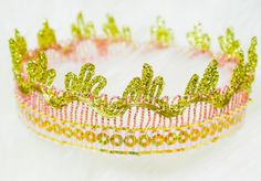 ♥♥♥ So adorable and at a special introductory price!! Golden Lace Crowns for Toddlers by #JuliesElegantCrafts On Sale! Get yours now before they sell out!! ♥♥♥