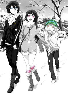 Noragami / Yato, Yukine, Hiyori / Officially one of my favorite animes! Beautiful plot, Beautiful characters, beautiful animation! I'd heartily recommend it.