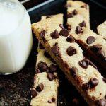 Cookie Bars - Barrette di biscotto con gocce di cioccolato