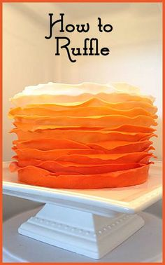How to make Ombre Ruffle Cakes