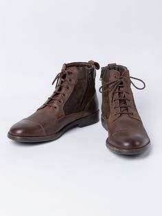 a83a64fb80d46 Geox Leather & Suede Zip Boots - Artfully constructed in leather and suede,  with a
