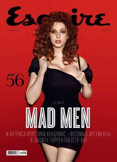Christina Hendricks en Esquire, 2010.