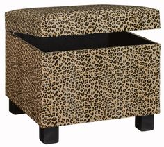 Lovely Safari Storage Ottoman   This Is Perfect. Animal Print Will Liven Up My  Plain Furniture