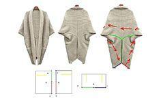 πλεκτη γεωμετρικη ζακετα, πως να ραψετε μια γεωμετρικη ζακετα Refashion, Projects To Try, Sewing, Dressmaking, Couture, Stitching, Sew, Costura, Needlework