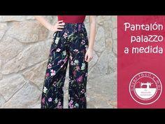 Pantalones palazzo a medida, muy fácil - YouTube Palazzo Pants, Harem Pants, Pajama Pants, Trousers, Salwar Pants, Diy Clothes, Sewing Projects, Sewing Patterns, Fabric