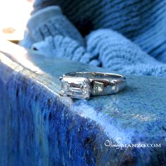 Its the cusp of a new life, on the edge. Horizontal set Emerald Cut Diamond in platinum ring with Canary Yellow trapezoid shoulders. Platinum Ring, Emerald Cut Diamonds, Rings For Men, Jewelry Design, Yellow, Hair, Life, Men Rings, Emerald Cut Diamond