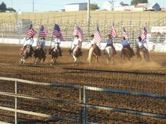 Horse riders at the Santiam Canyon Stampede in #Sublimity Oregon I saw this in person it was beautiful