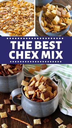 The Best Chex Mix recipe that has been handed down from my Grandma to my Mom! It's loaded with Chex cereal, peanuts and pretzels perfect as snacks to munch on during the holidays or to bring to parties throughout the year. Chex Recipes, Trail Mix Recipes, Snack Mix Recipes, Cereal Recipes, Appetizer Recipes, Appetizers, Recipe For Chex Mix Snack, Chex Mix Trash Recipe, Bold Chex Mix Recipe