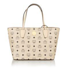 The bag for business: MCM Project Visetos Shopper Small Beige Shopper byFashionette