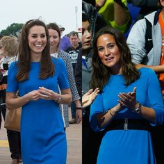 Pin for Later: 16 Times Pippa and Kate Middleton Dressed So Similarly, We Had to Do a Double Take When They Were Feeling Blue — Complete With Quarter Sleeves