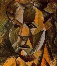 Cubismo analitico. Cabeza de mujer (1909)