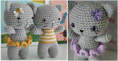 It's a free pattern for creating a little amigurumi cat regarding fifteen cm tall. It's teaching you the way to form a think of joined legs. The kitty has 2 possibilities: with stripy shirt or ruffled