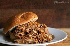 Pulled Pork Sandwich Recipe on SimplyRecipes.com