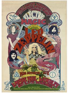 10 Wonderfully Retro Led Zeppelin Posters Every Rock Fan Will LOVE