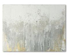 Leinwandbild Explosion of White, 40 x 60 cm