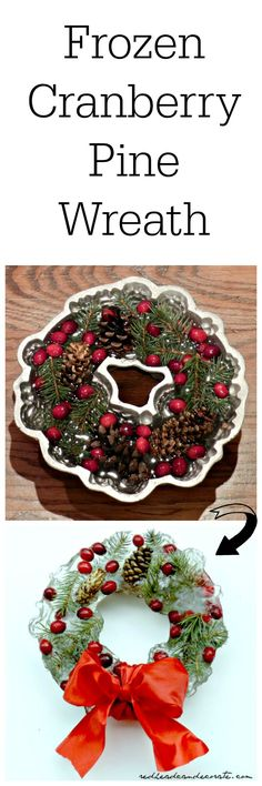 Frozen Cranberry Pine Christmas Wreath Tutorial