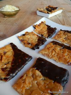 The Veggie Sisters Vegan Gluten Free, Vegan Vegetarian, Greek Sweets, Greek Recipes, Going Vegan, Biscotti, Kids Meals, Caramel, Sweet Treats