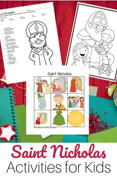 Ready to celebrate Saint Nicholas? Grab this St Nicholas Activity Bundle today - filled with word puzzles, bingo games and coloring pages. Catholic Books, Catholic Kids, Catholic Homeschooling, Catholic Saints, Primitive Crafts, Primitive Christmas, Country Christmas, Christmas Christmas, Old Fashion Christmas Tree