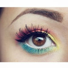 Rainbow eyes #eyes #makeup
