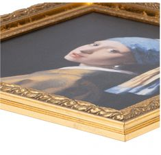 Girl with a Pearl Earring in golden frame by Johannes Vermeer High-quality mate… – Dutch Art Reproductions – technologie English Girls, Johannes Vermeer, Golden Color, Vincent Van Gogh, Art Reproductions, Giclee Print, Old Things, Pearl Earrings, Museum