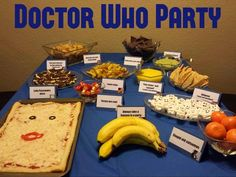 Doctor who party. But where are the jammy dodgers and jelly babies?