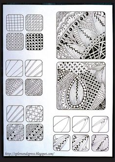 zentangle patterns - my school's art teacher did this project and they are amazing!