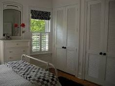 Image result for Louvre doors in bedroom